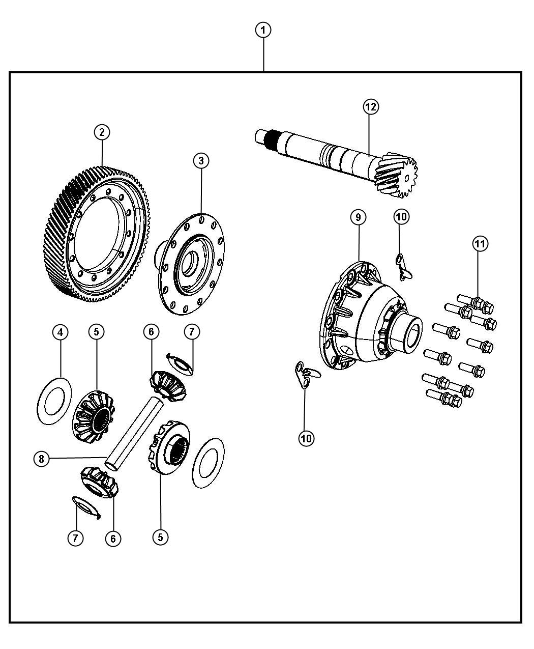 Chrysler Pacifica Gear Sidegear Differential Side
