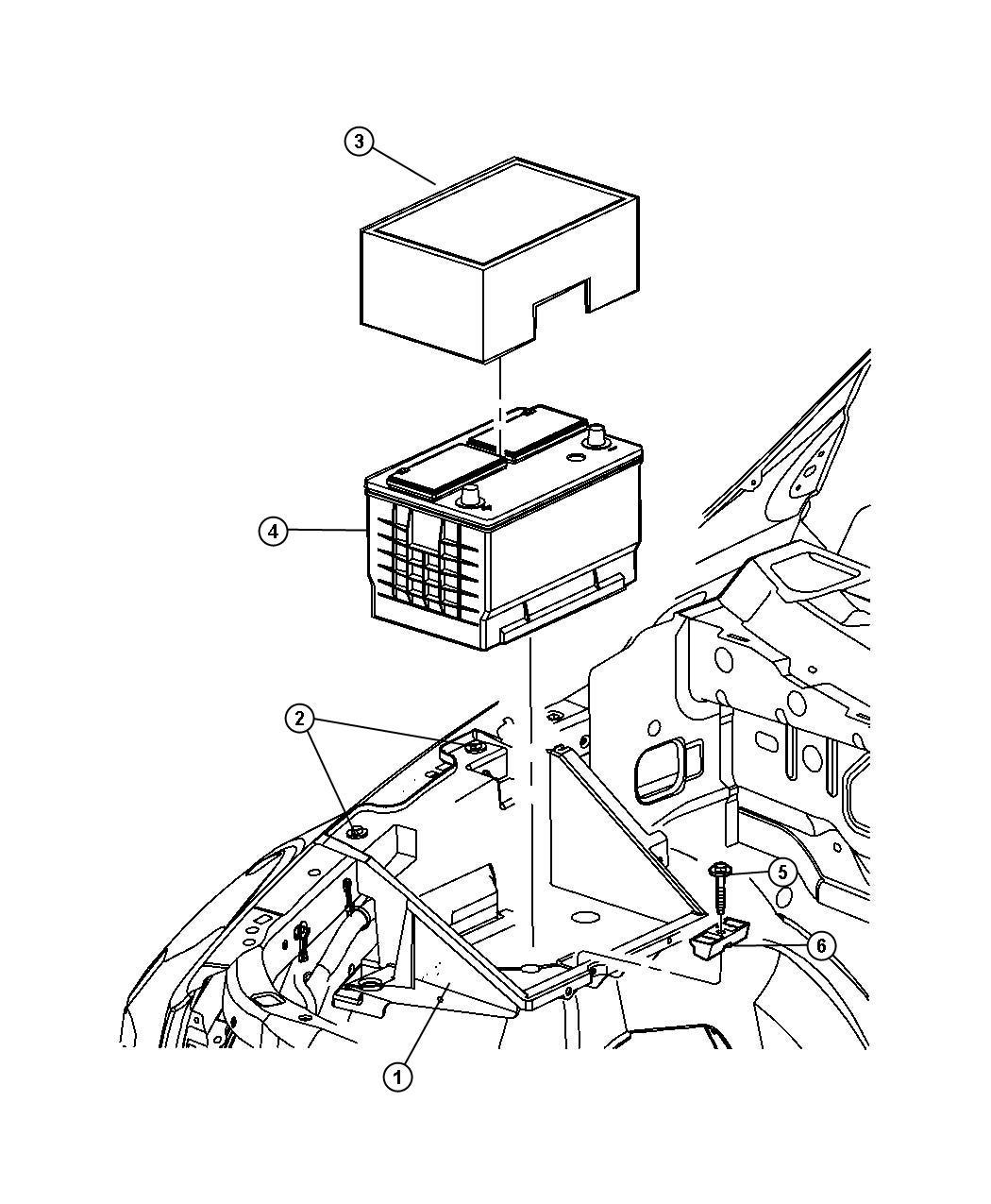 Dodge Ram Bracket Battery Hold Down