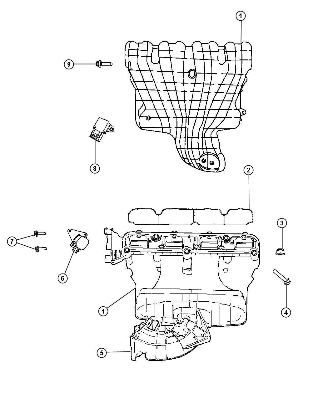 Dodge Caliber Manifold Intake Eba