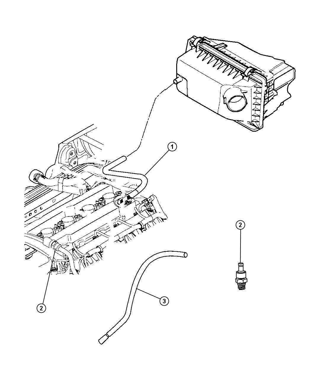 Dodge Caliber Hose Crankcase Vent Pcv Valve Gascng