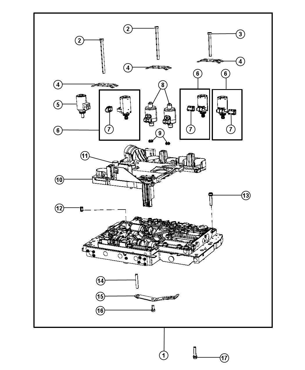 Jeep Wrangler Solenoid Valve Transmission