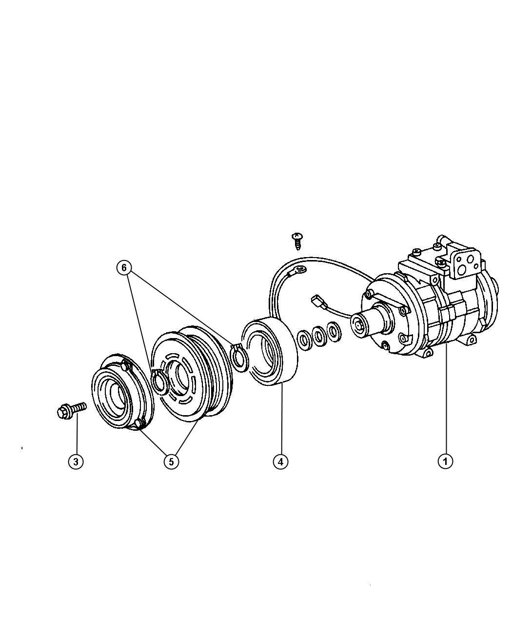 Chrysler Aspen Coil Air Conditioning Clutch