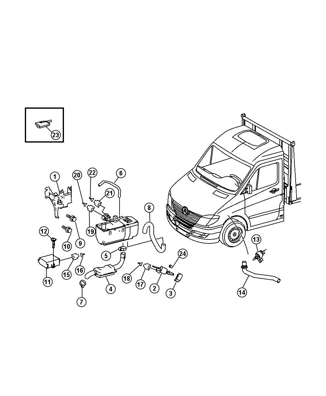 Chrysler Voyager Auxiliary Cabin Heater