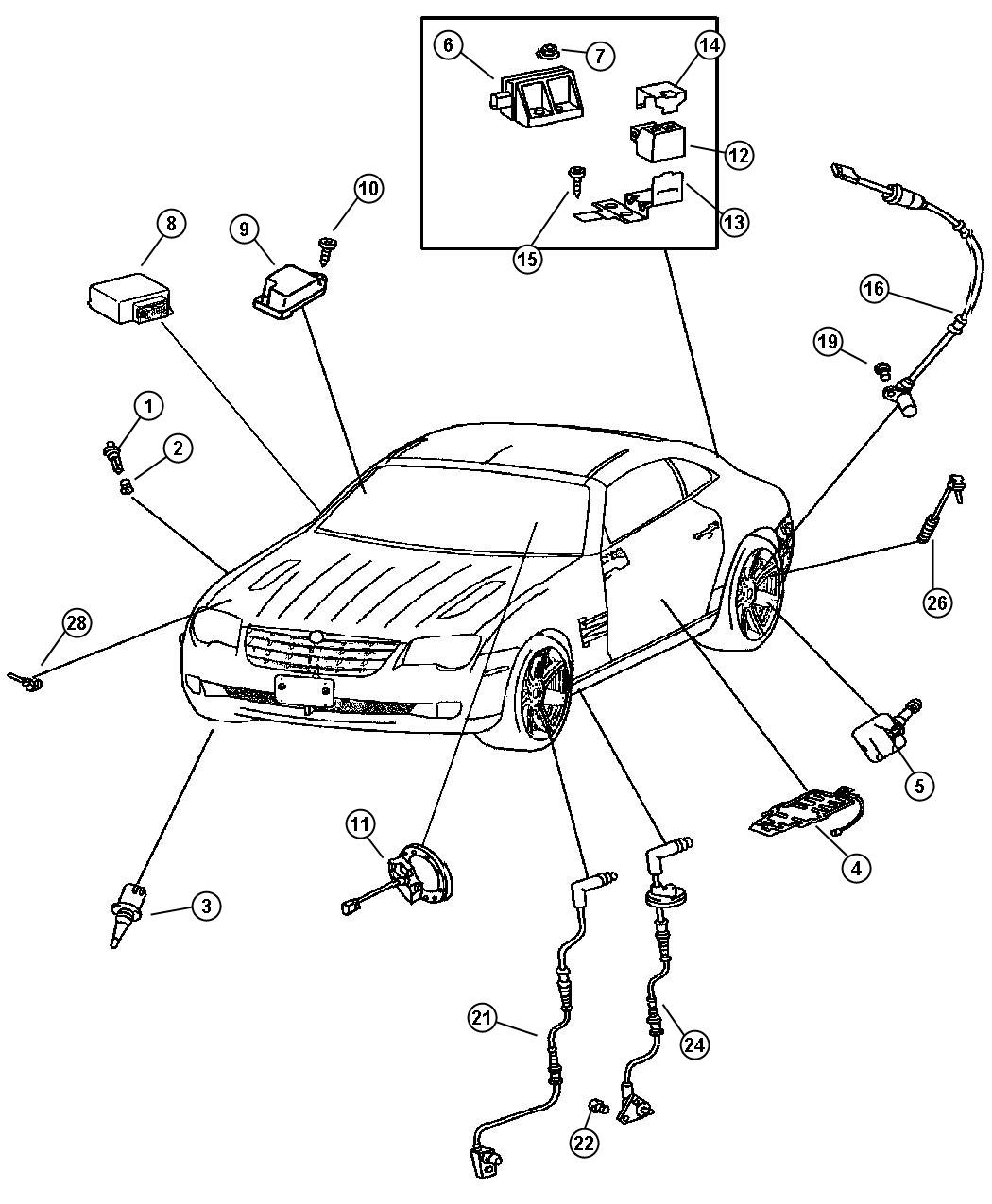 Chrysler Crossfire Sensor Yaw Rate Lateral Acceleration