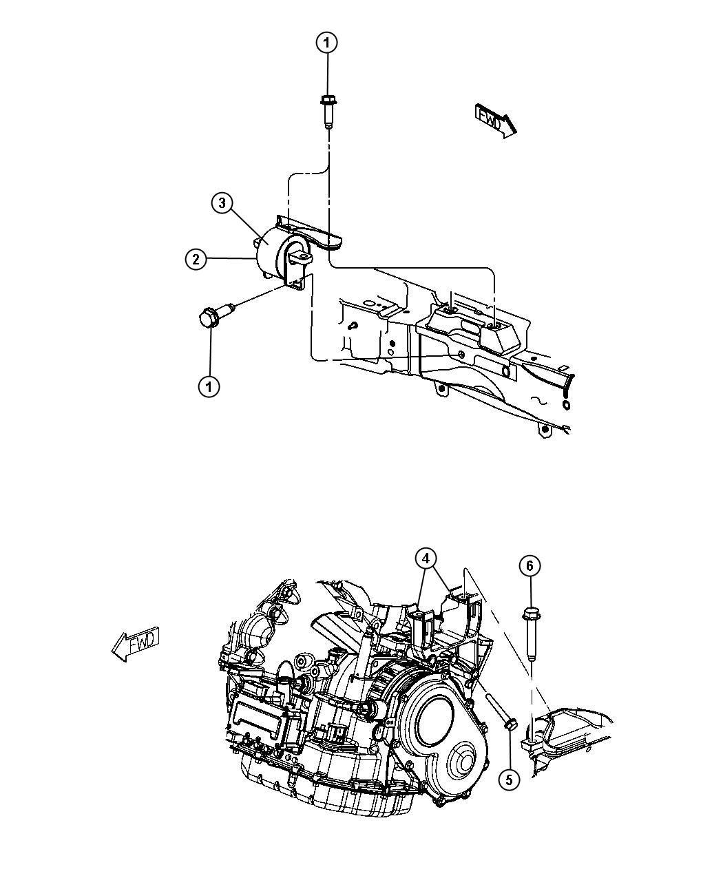 Engine Mounting Left Side Fwd 2 7l 2 7l V6 Dohc 24 Valve