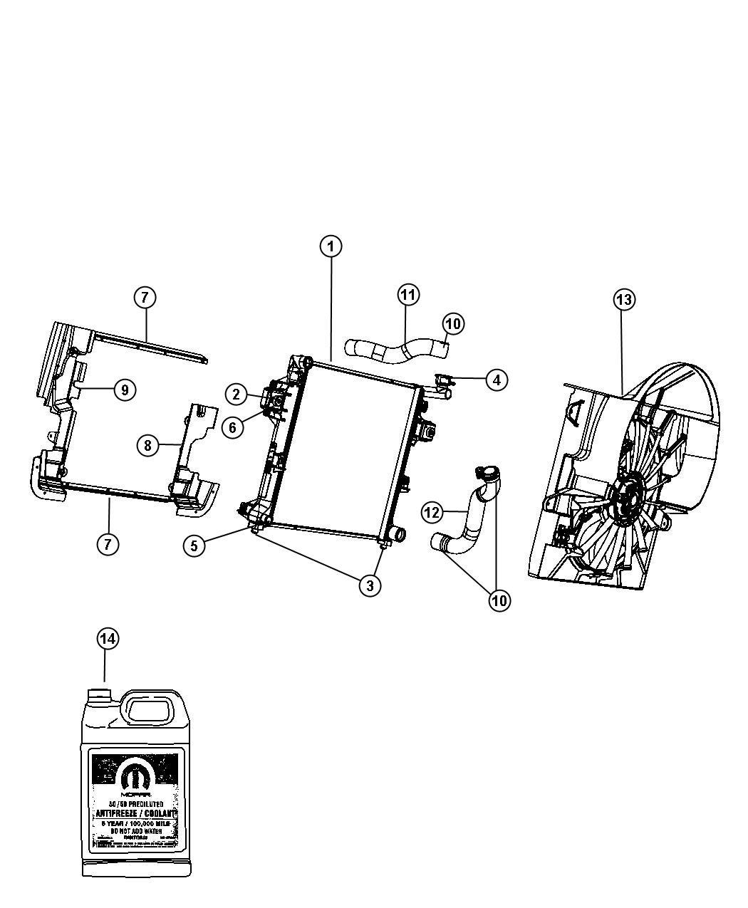 Jeep Liberty Antifreeze Coolant Gallon Red Coolant