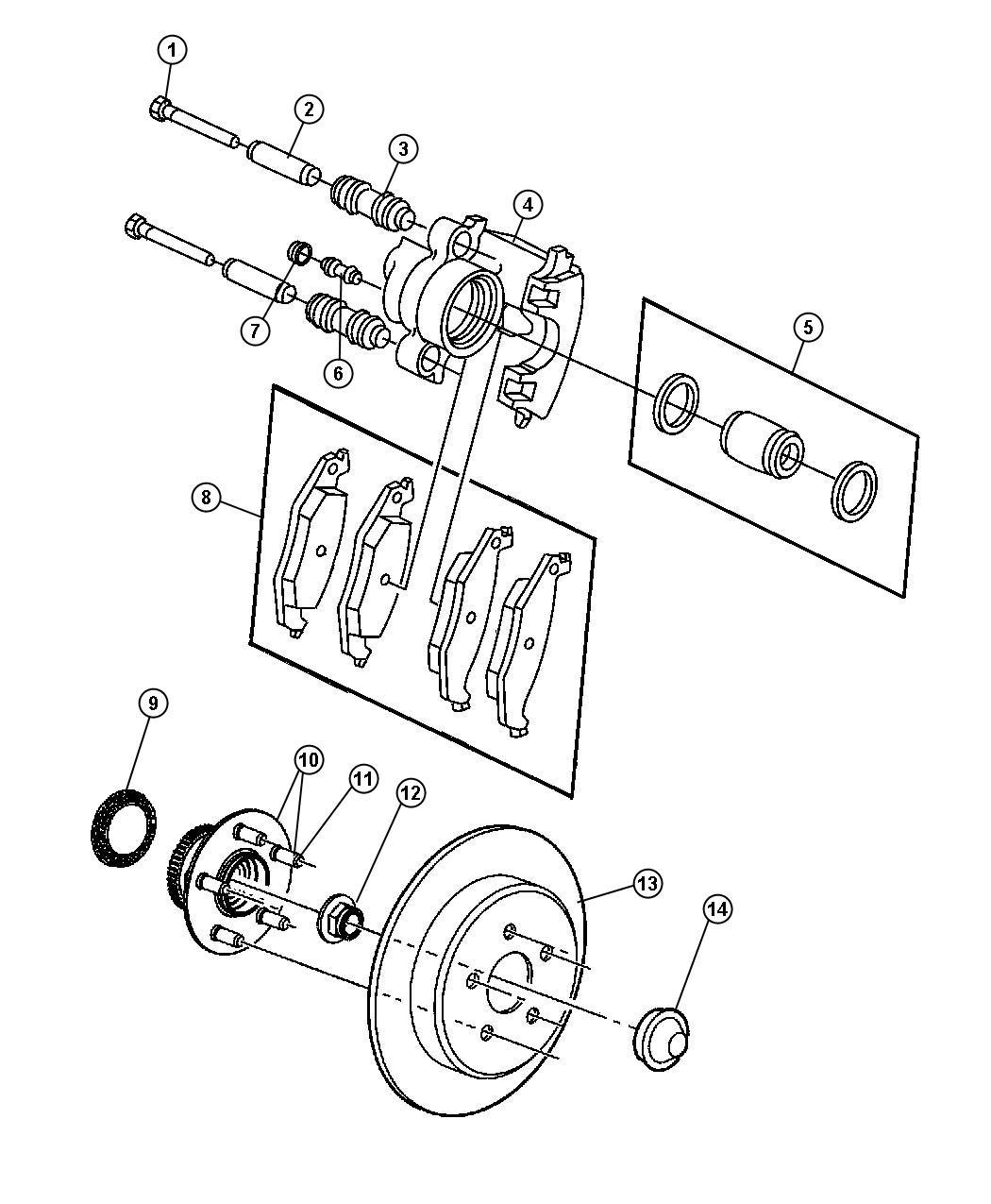 Chrysler Pt Cruiser Pad Kit Disc Brake Rear Disc