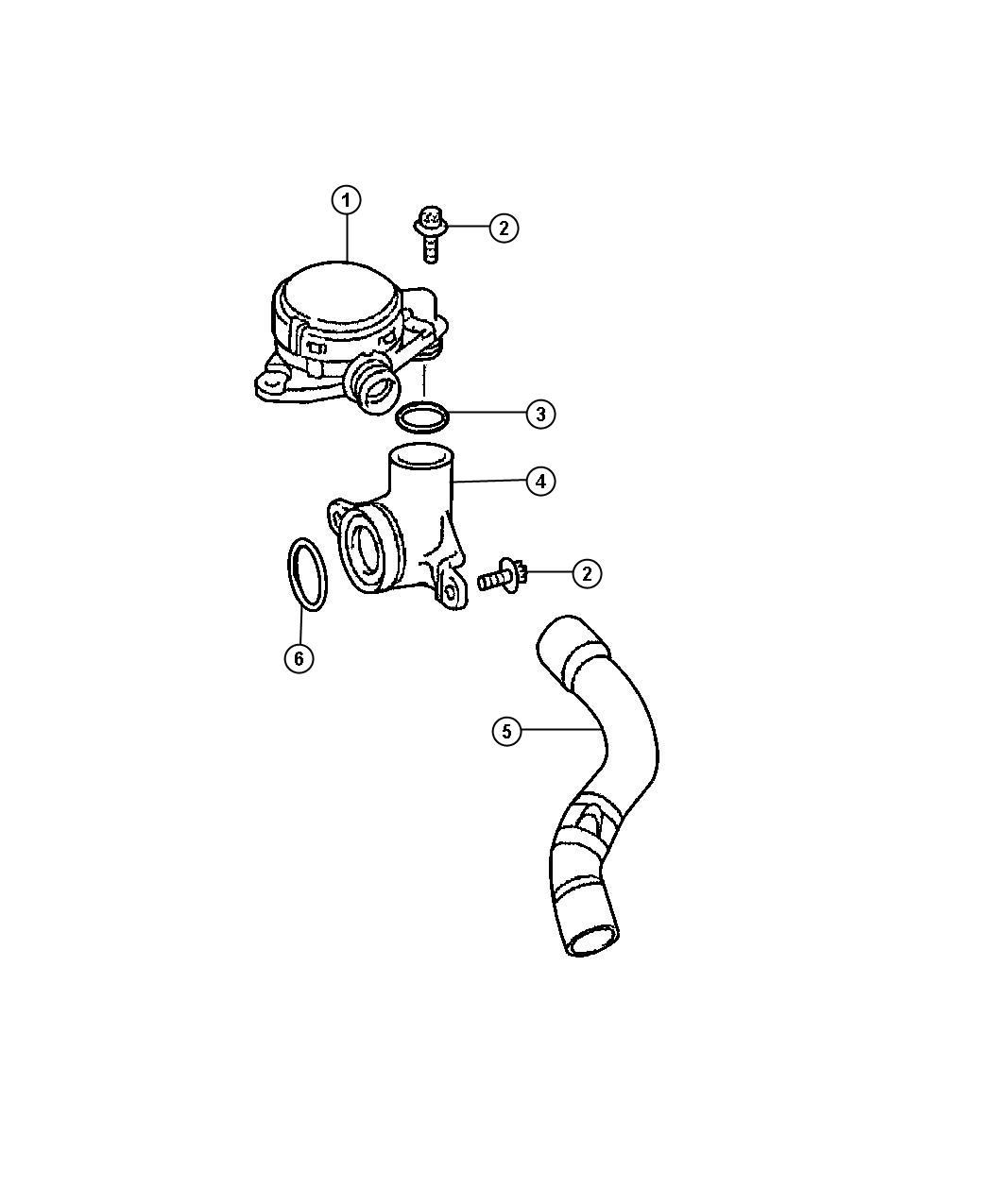 Jeep Grand Cherokee Hose Cylinder Head To Intake Manifold
