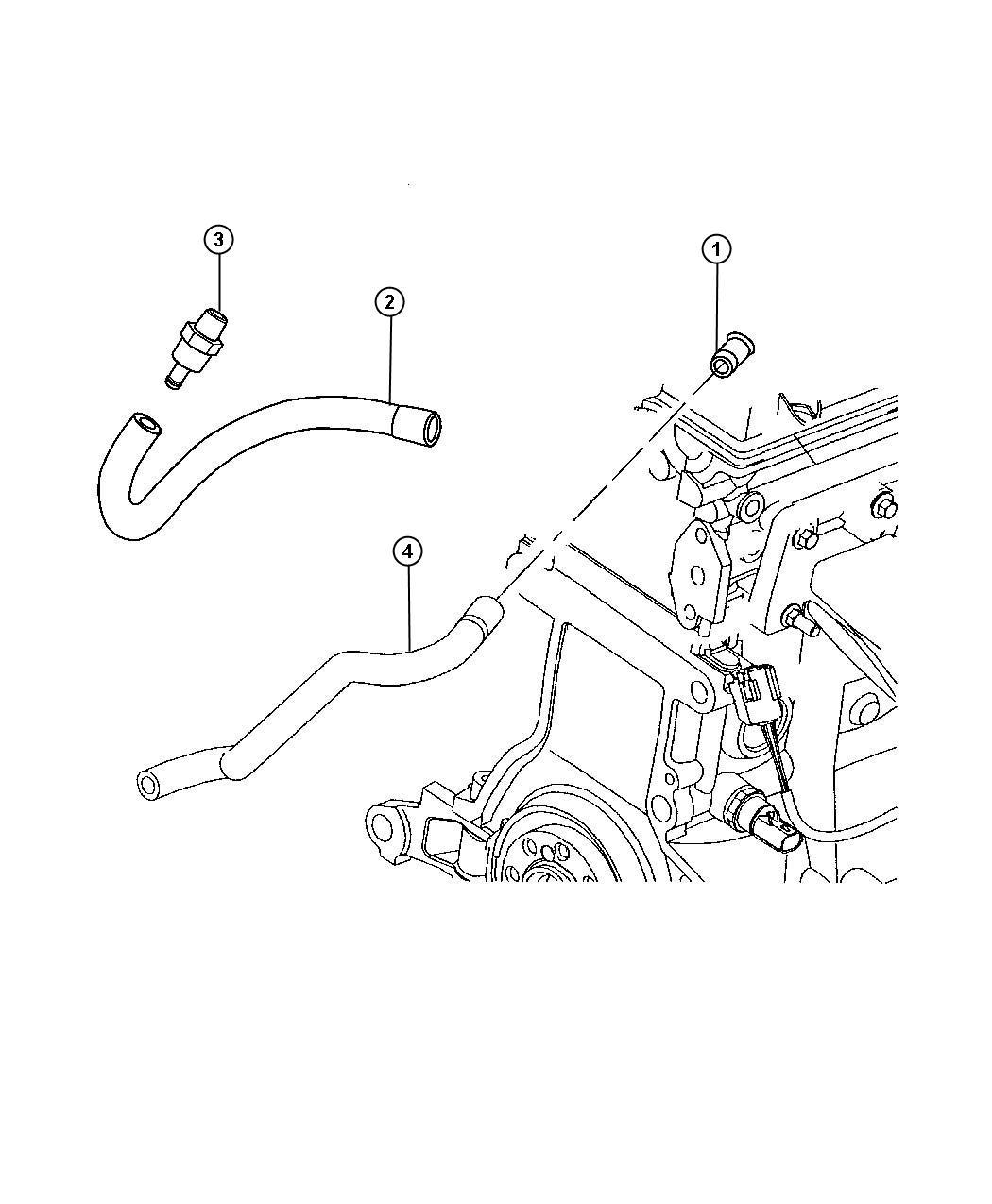 Chrysler Pt Cruiser Hose Polution Control Valve