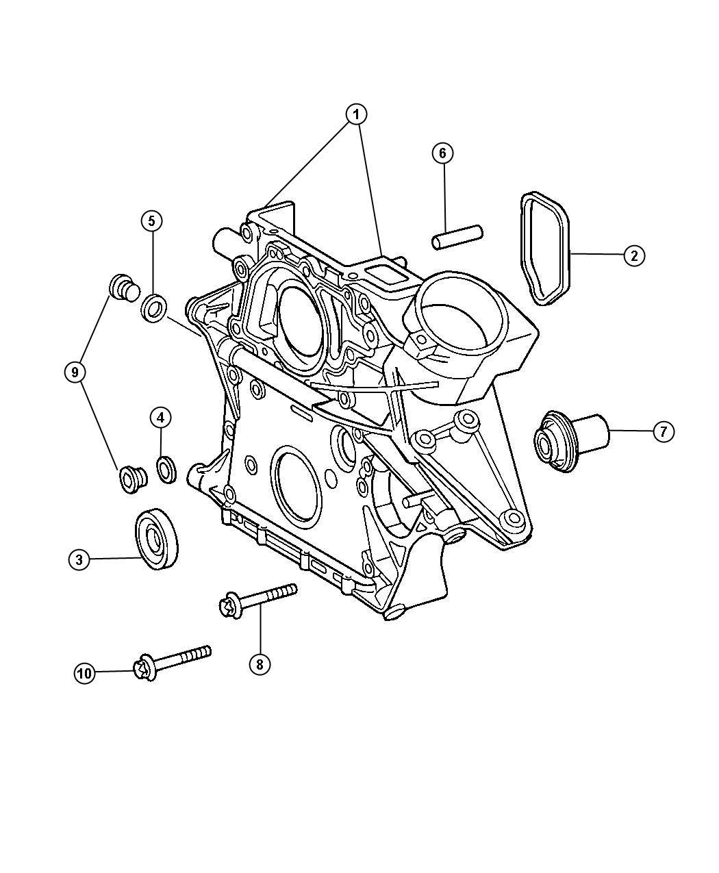 Dodge Journey Bolt Screw Cylinder Head Front