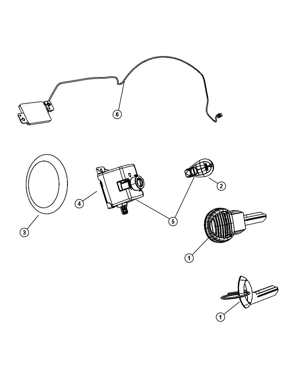 Dodge Ram Key Blank Transmitter Trim All Trim