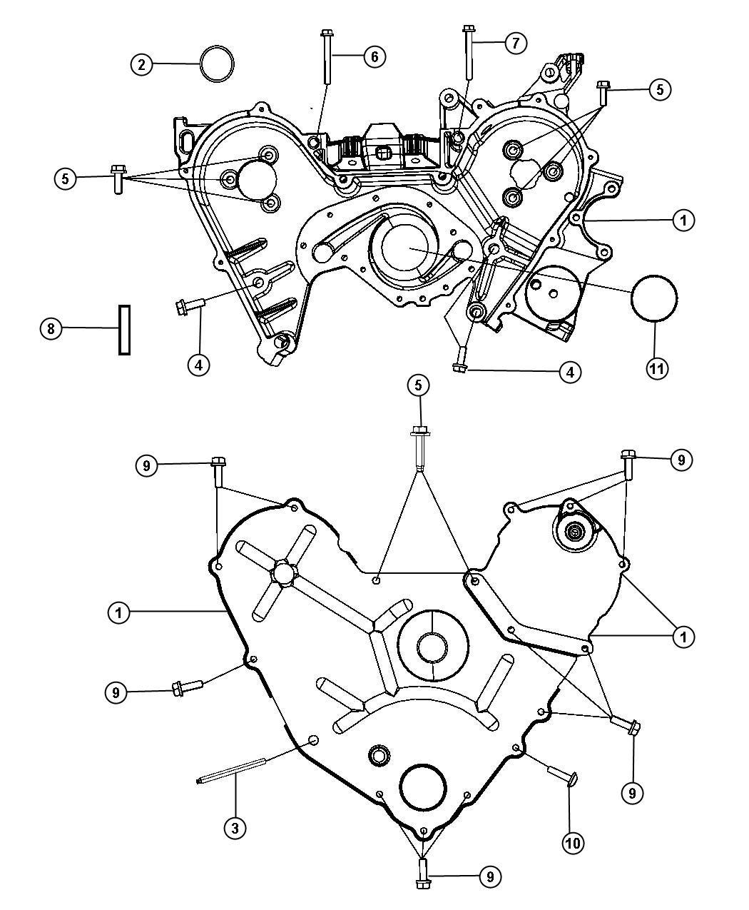 Dodge Timing Case Cover 3 5l 3 5l V6 High Output 24v Mpi