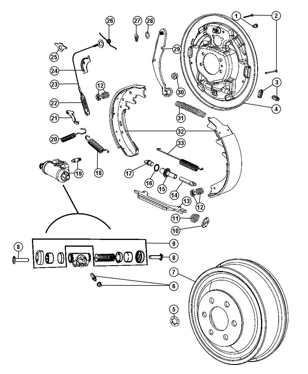 Dodge Ram Strut Right Or Left Parking Brake