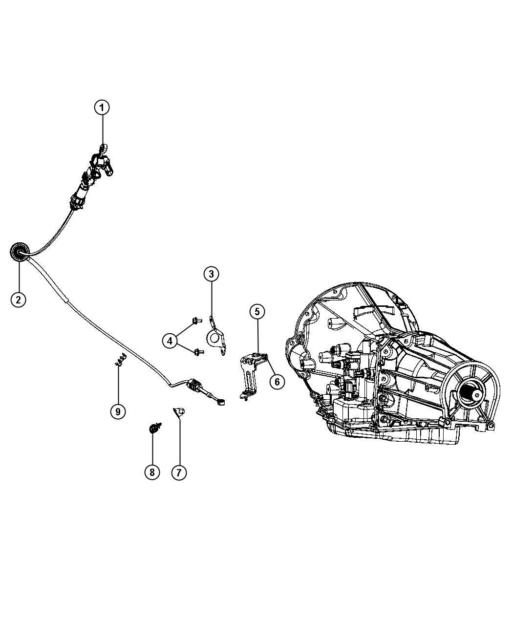 Dodge Dakota Bracket Shift Cable