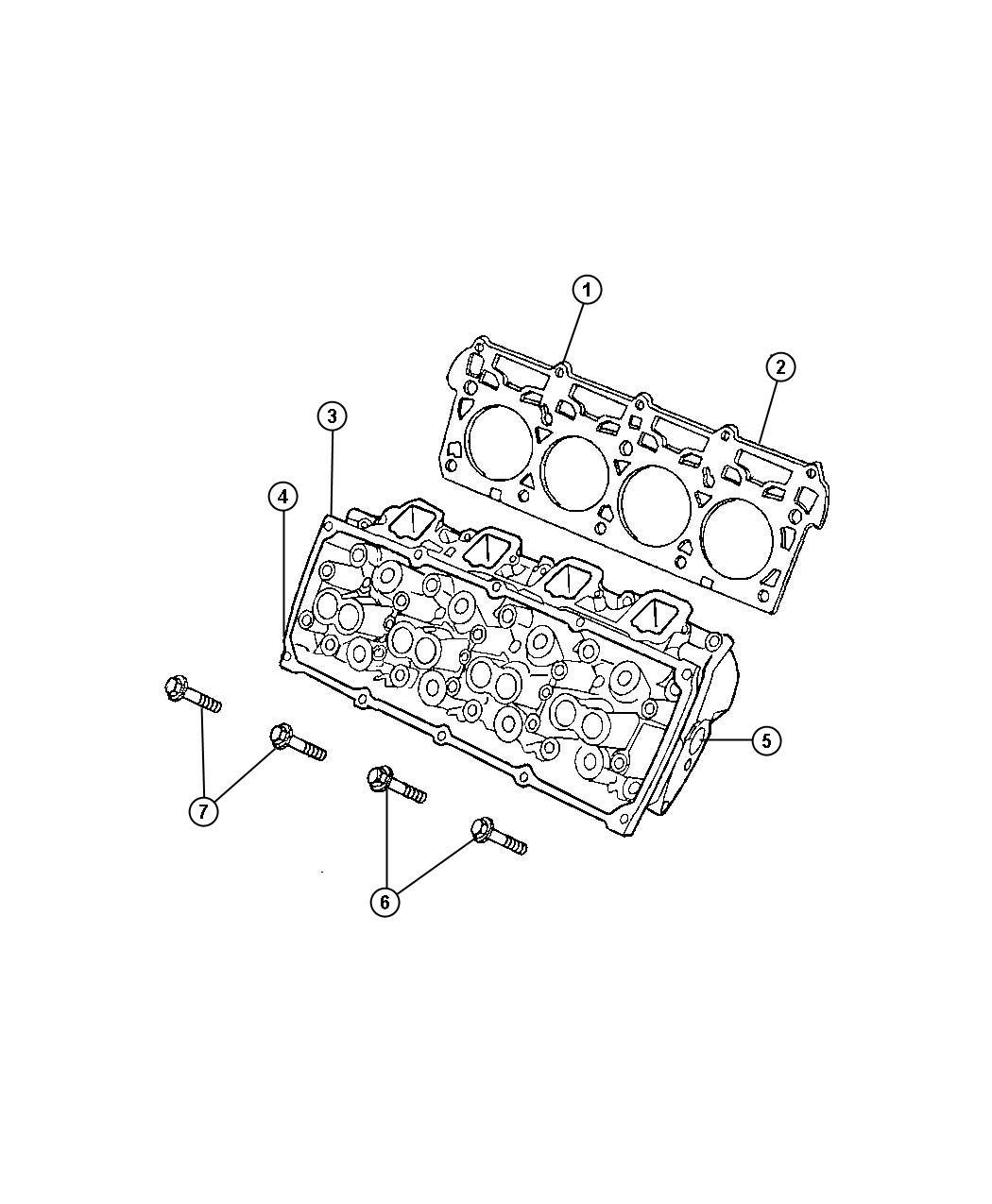 Ram Head Head Assembly Cylinder Engine Cylinder