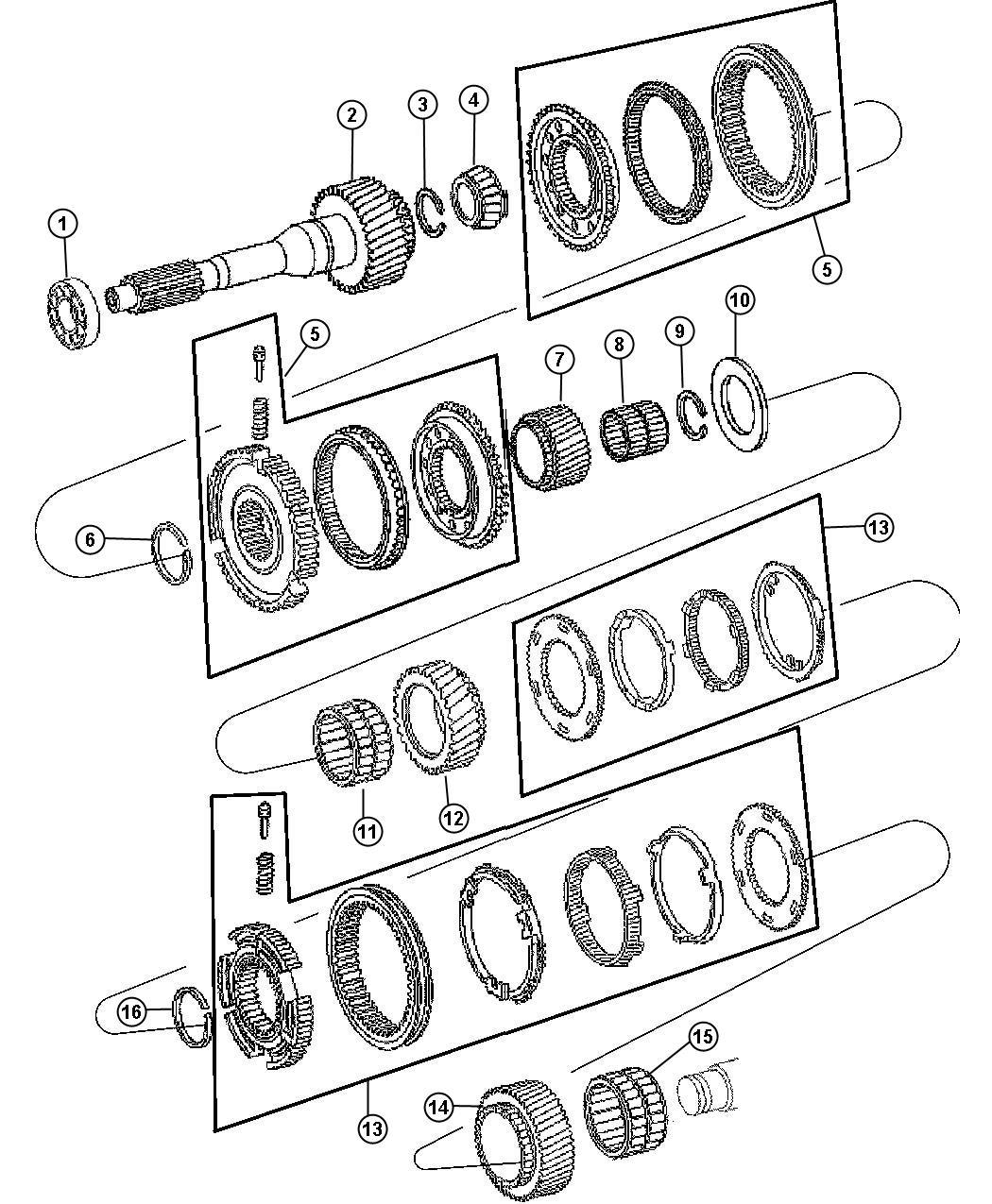 Dodge Shim Kit Transmission Annular Shims Complete