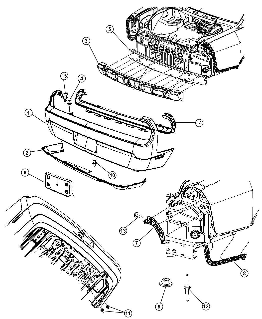 Dodge Challenger Fascia Rear Dual Rear Exhaust W