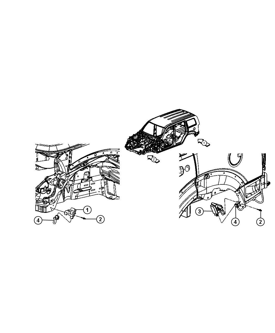 Dodge Ram Rivet Mounting Windowwindshield Trigger