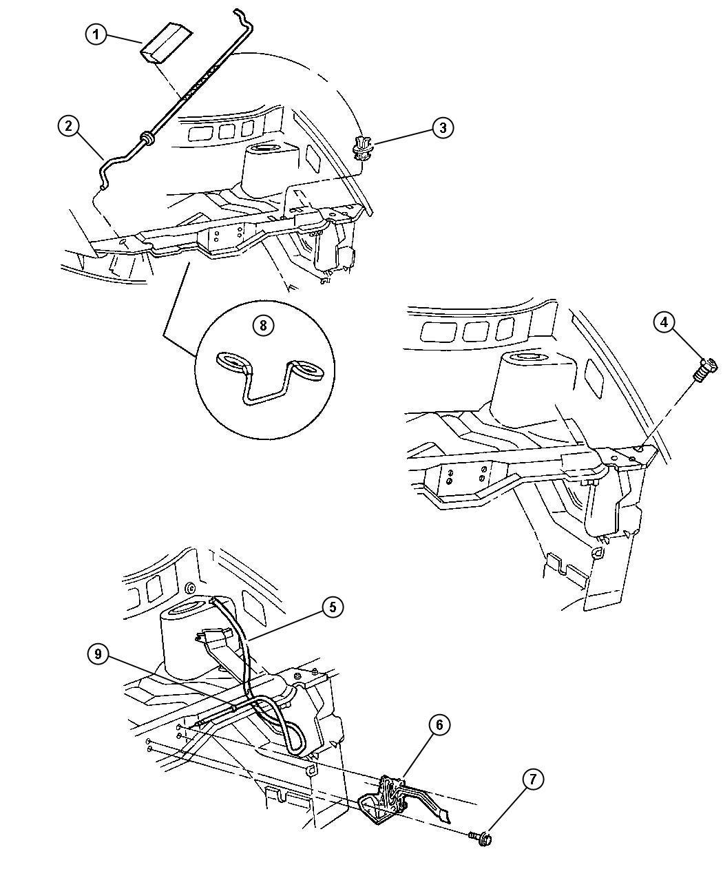Chrysler Pacifica Isolator Hood Prop Rod