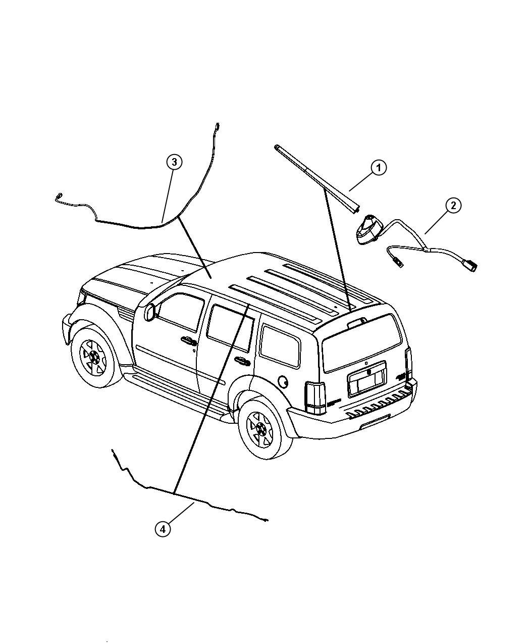 Jeep Liberty Antenna Used For Base Cable And Bracket