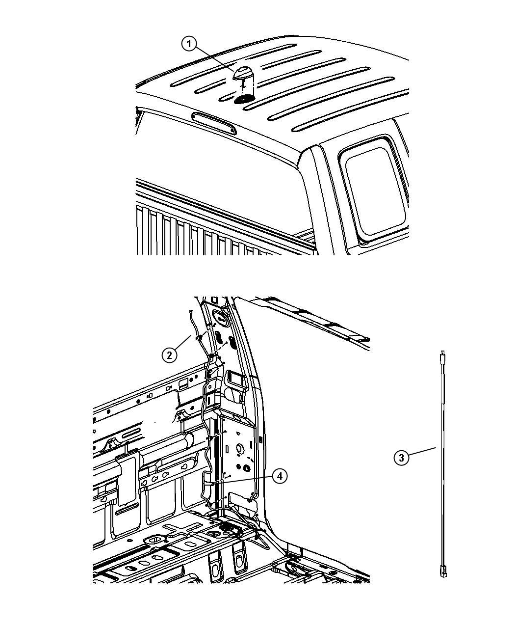 Dodge Caravan Antenna Satellite Radioaero Streaming