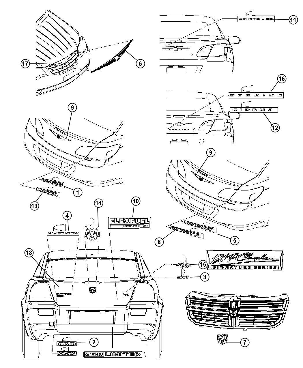 Chrysler Sebring Nameplate Limited