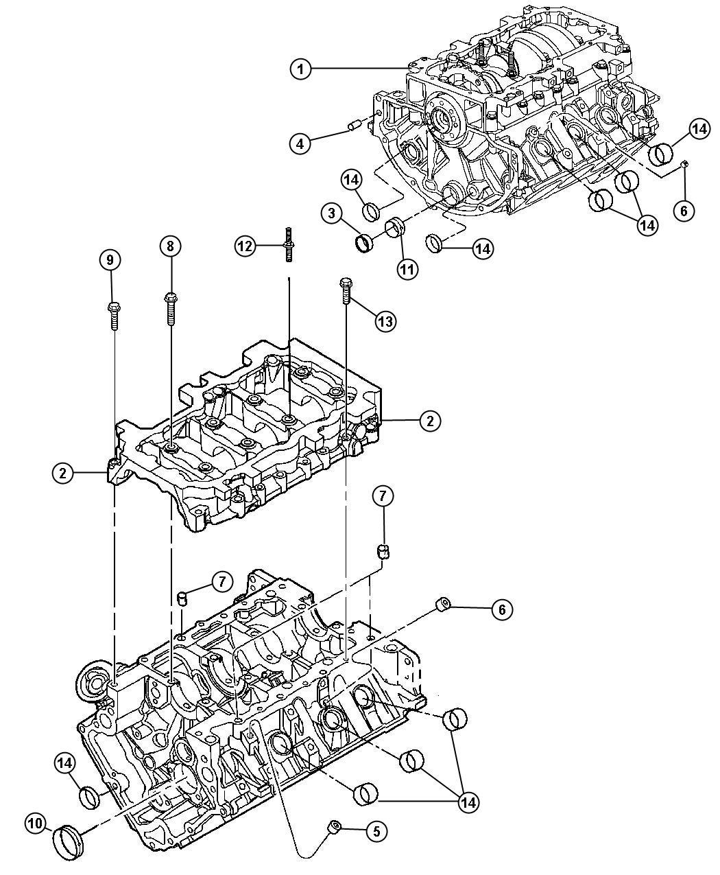 Jeep Liberty Engine Short Block Ekh Dgv Ddt