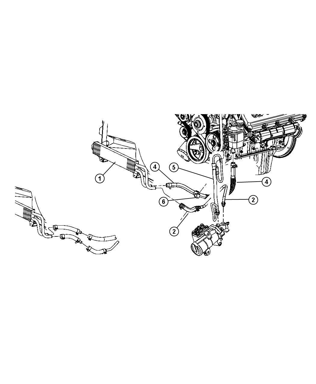 Dodge Ram Hose Power Steering Pressure Hydroboost