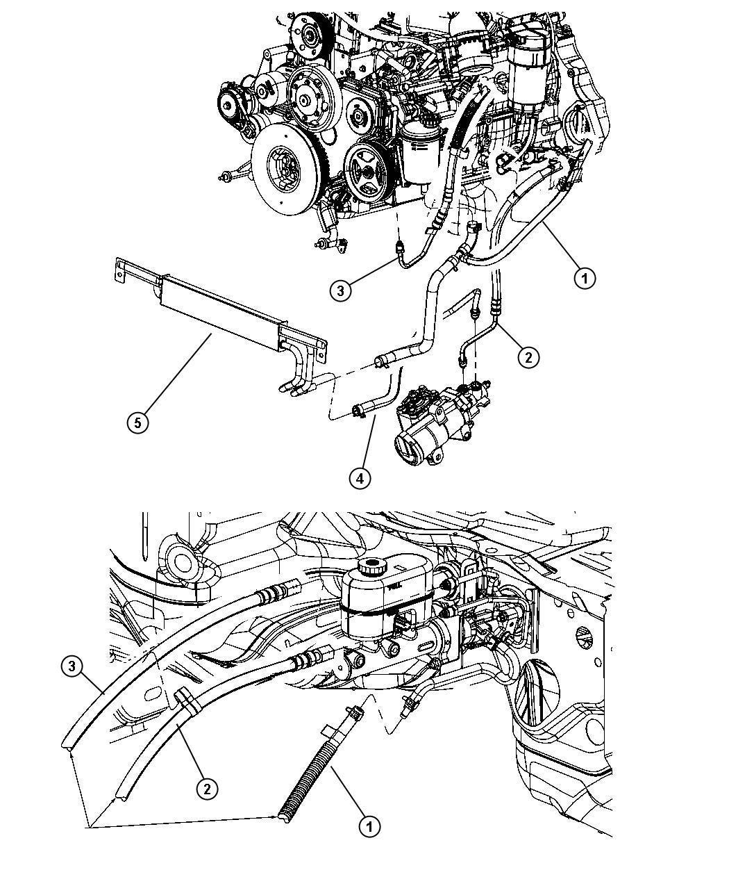 Dodge Ram Hose Power Steering Return Rcb