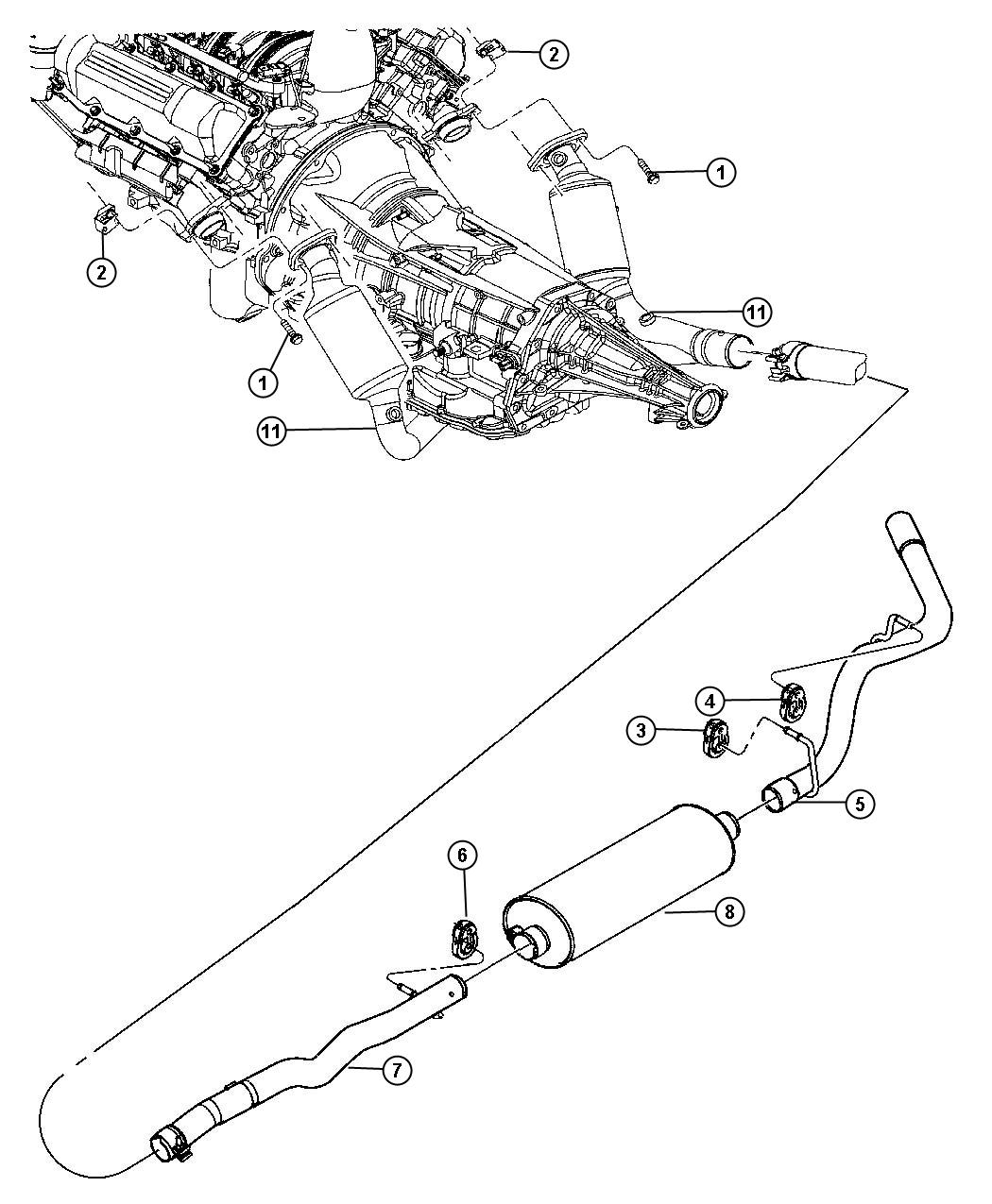 Dodge Dakota Muffler Exhaust Includes Exhaust Clamp