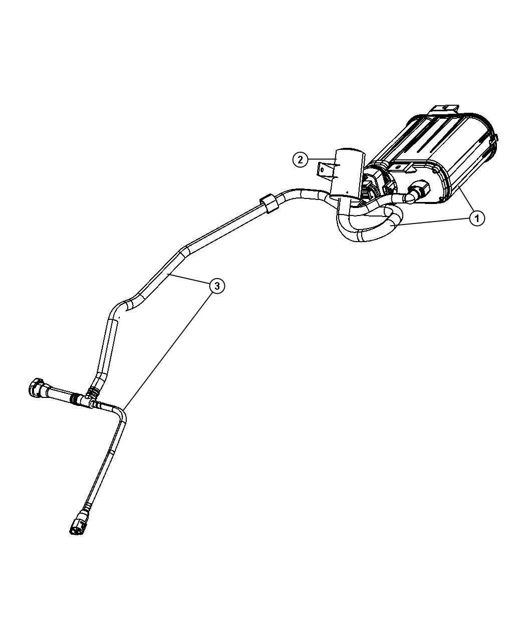 Dodge Filter Fuel Vapor Vent Dectection