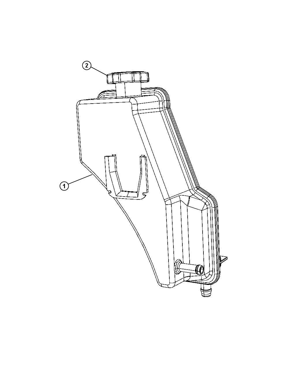 Jeep Commander Reservoir Power Steering Fluid Hydraulic