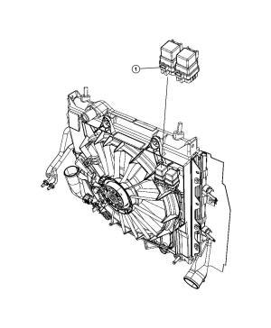 Jeep Patriot Relay Mini, radiator fan  04692079AA