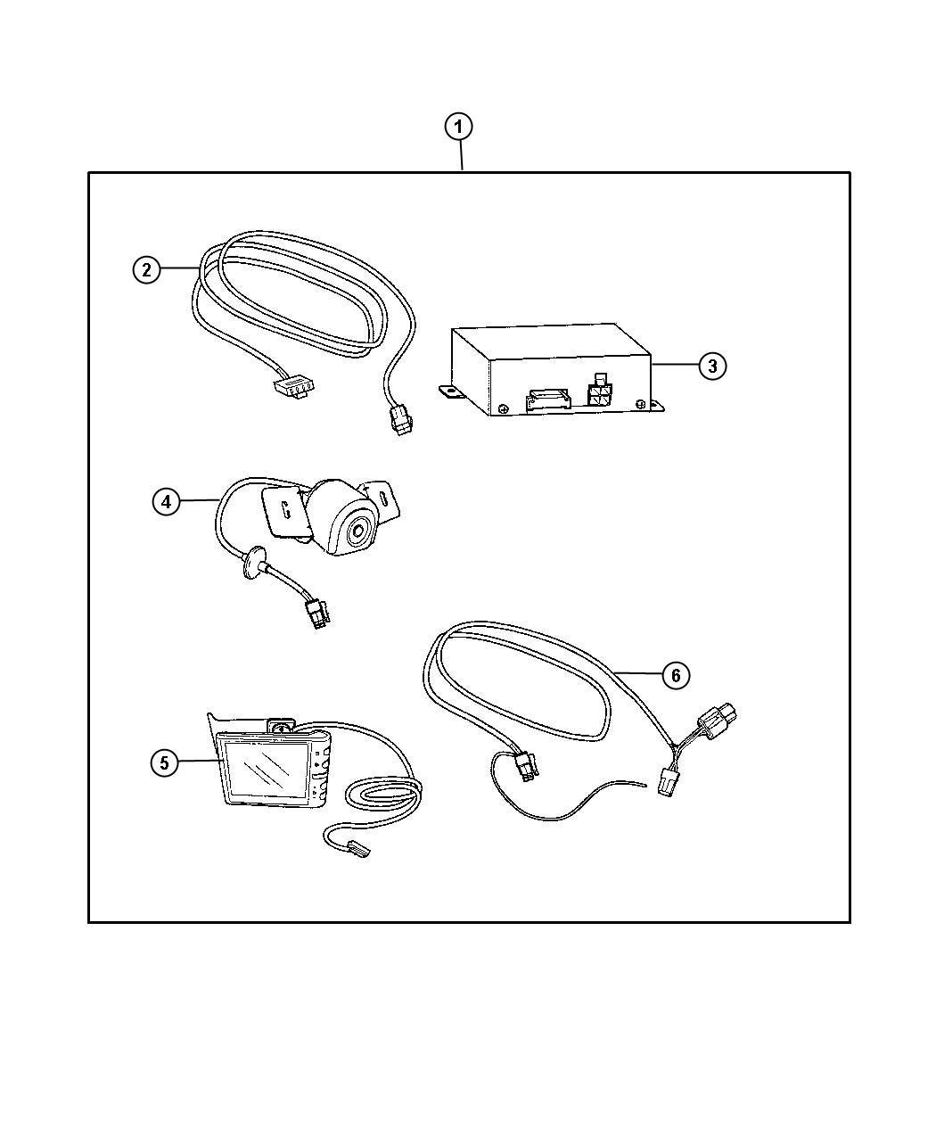 Dodge Journey Camera Kit Back Up Wideangle Weatherproof