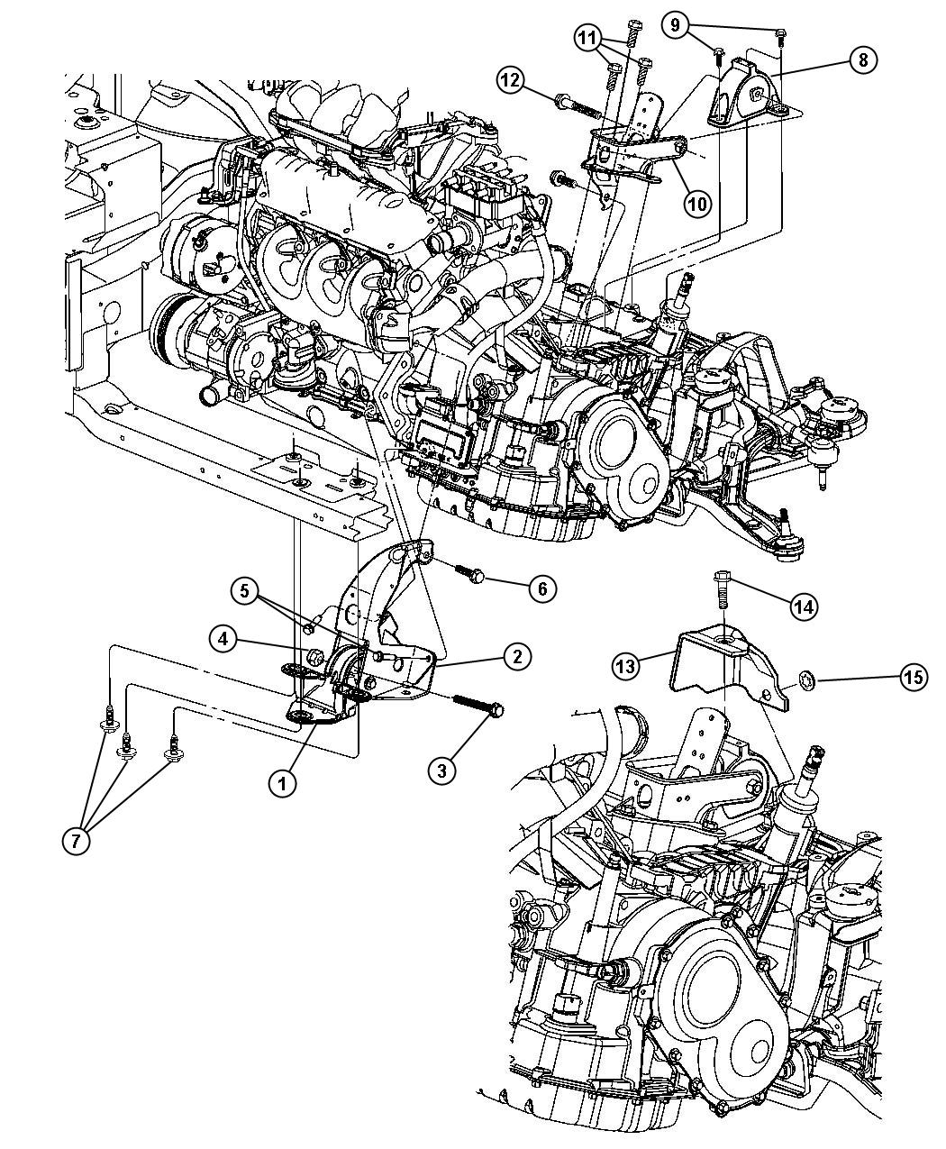 Dodge Durango Shield Rear Engine Mount