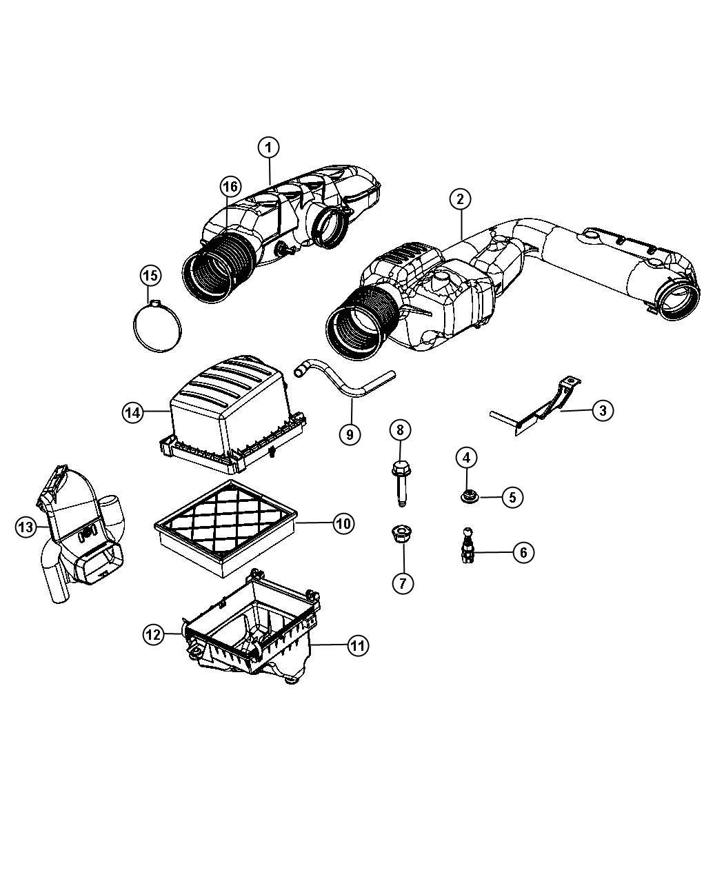 Jeep Grand Cherokee Hose Resonator Air Cleaner