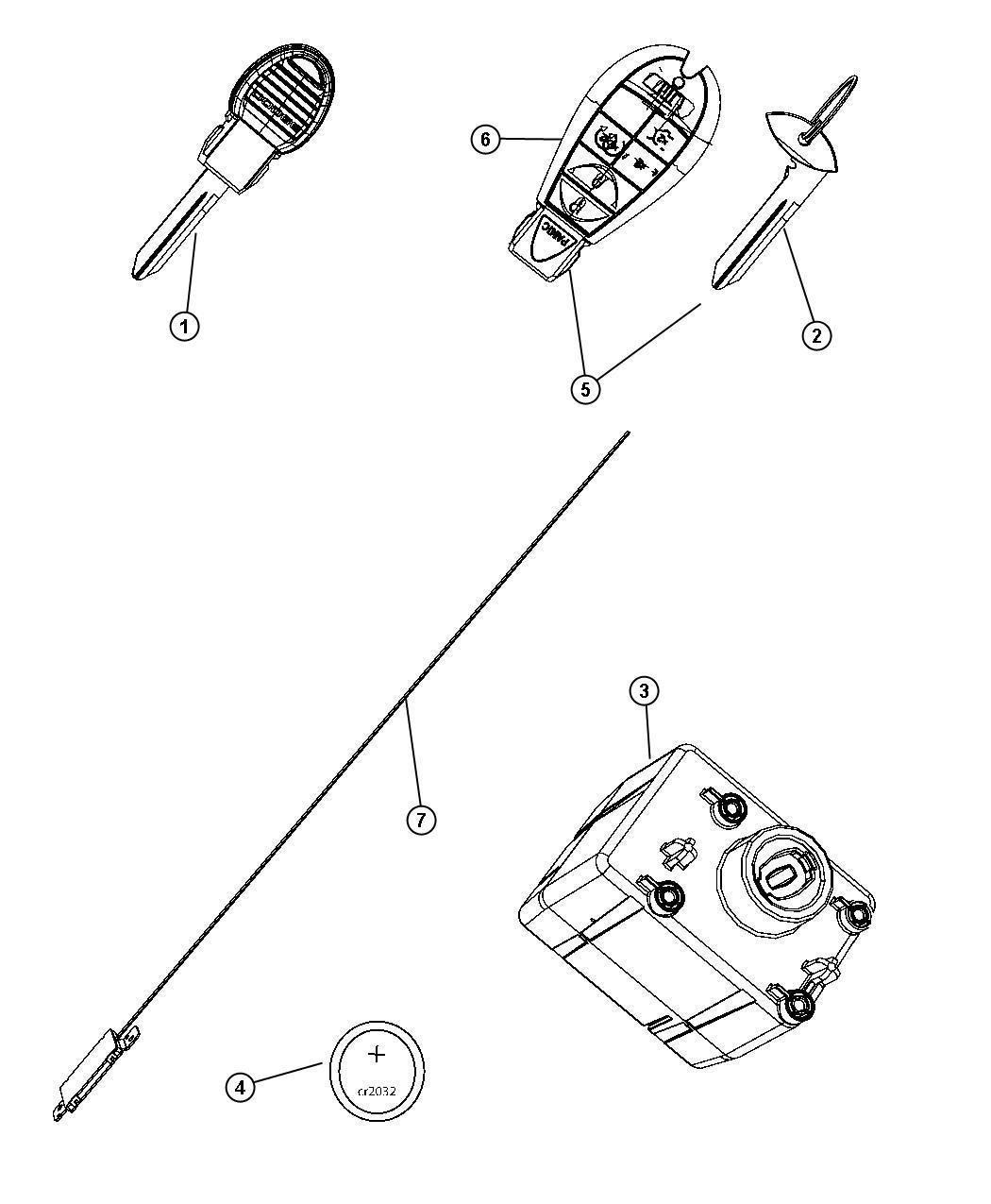 Dodge Ram Receiver Module Keys And Key Fobs