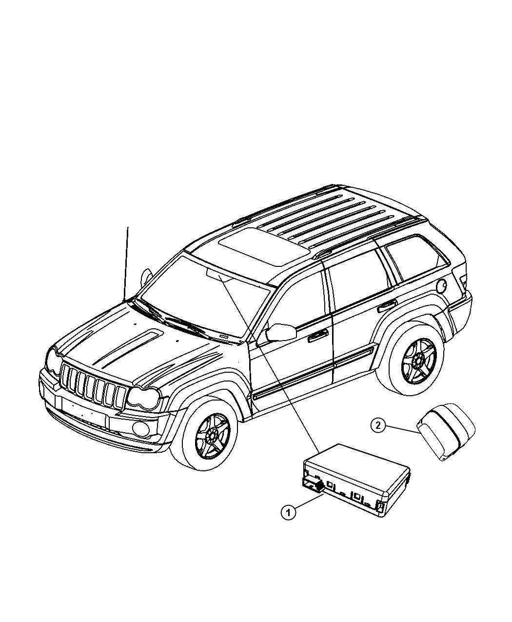 Dodge Durango Module Rain Sensor