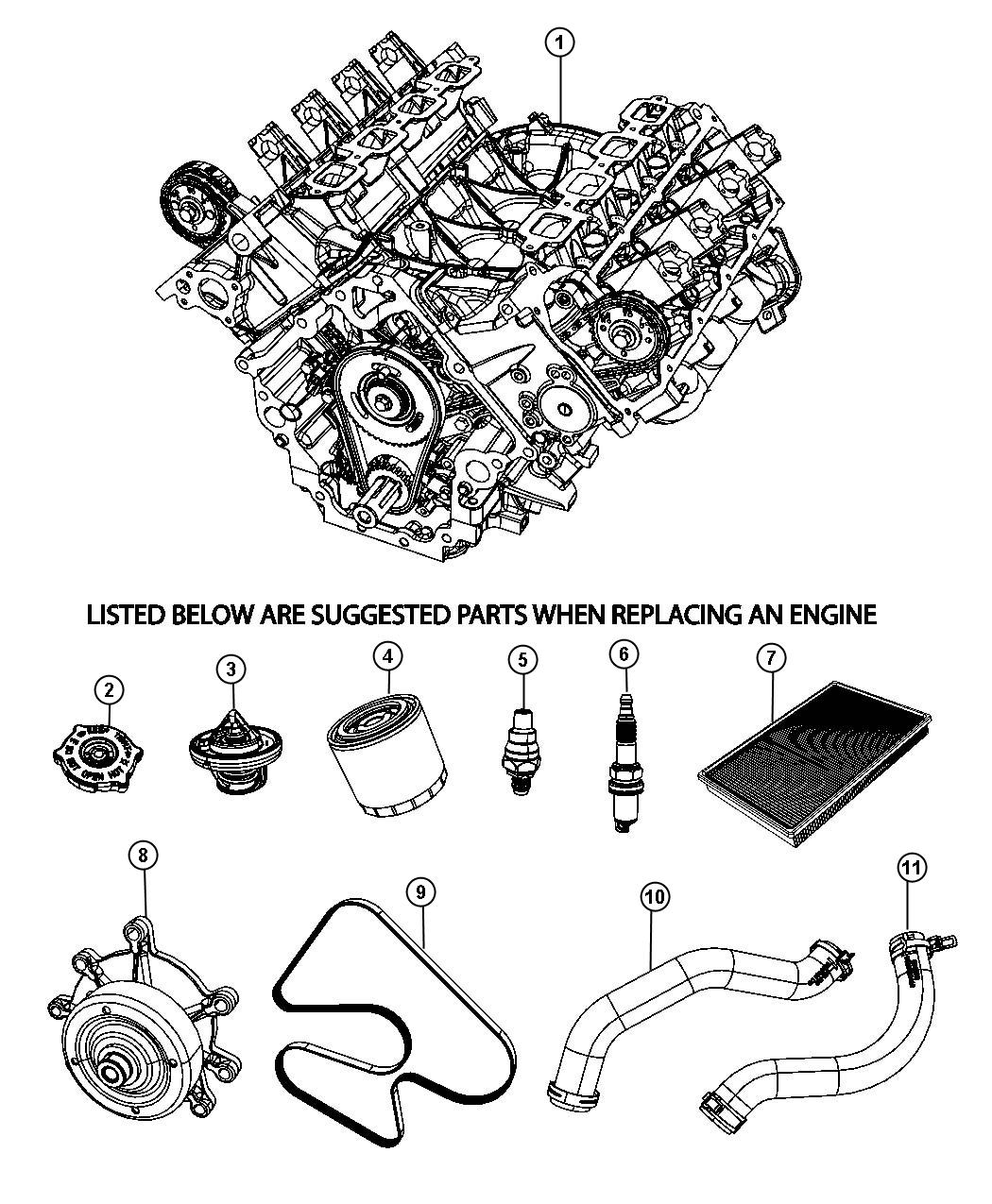 Jeep Liberty Engine Long Block See Note Suggested