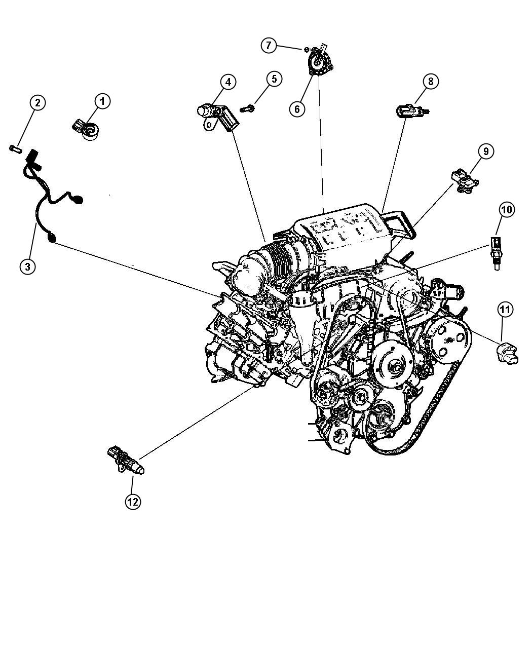 Dodge Journey Crew Sensors Engine