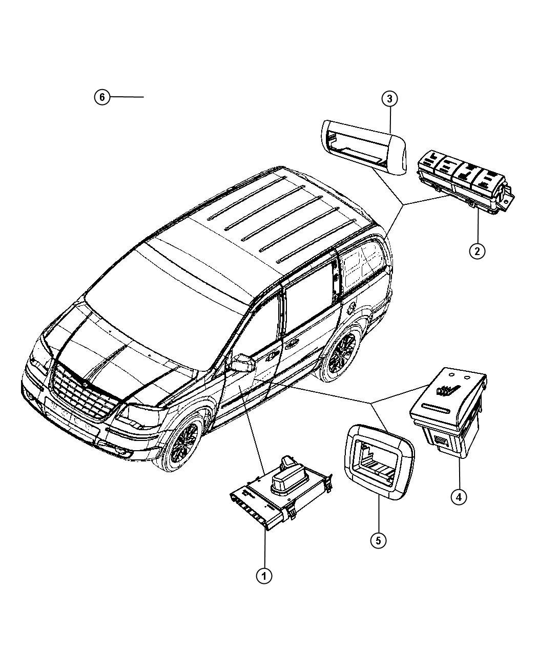 Dodge Grand Caravan Switches Seats