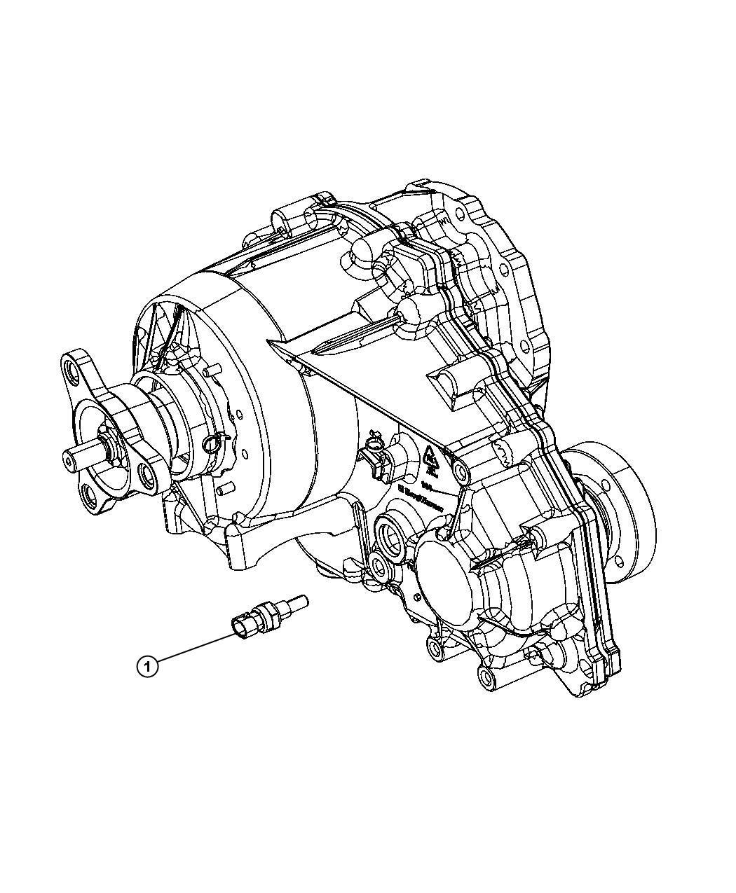 Chrysler 300 Sensor Temperature Transfer Case
