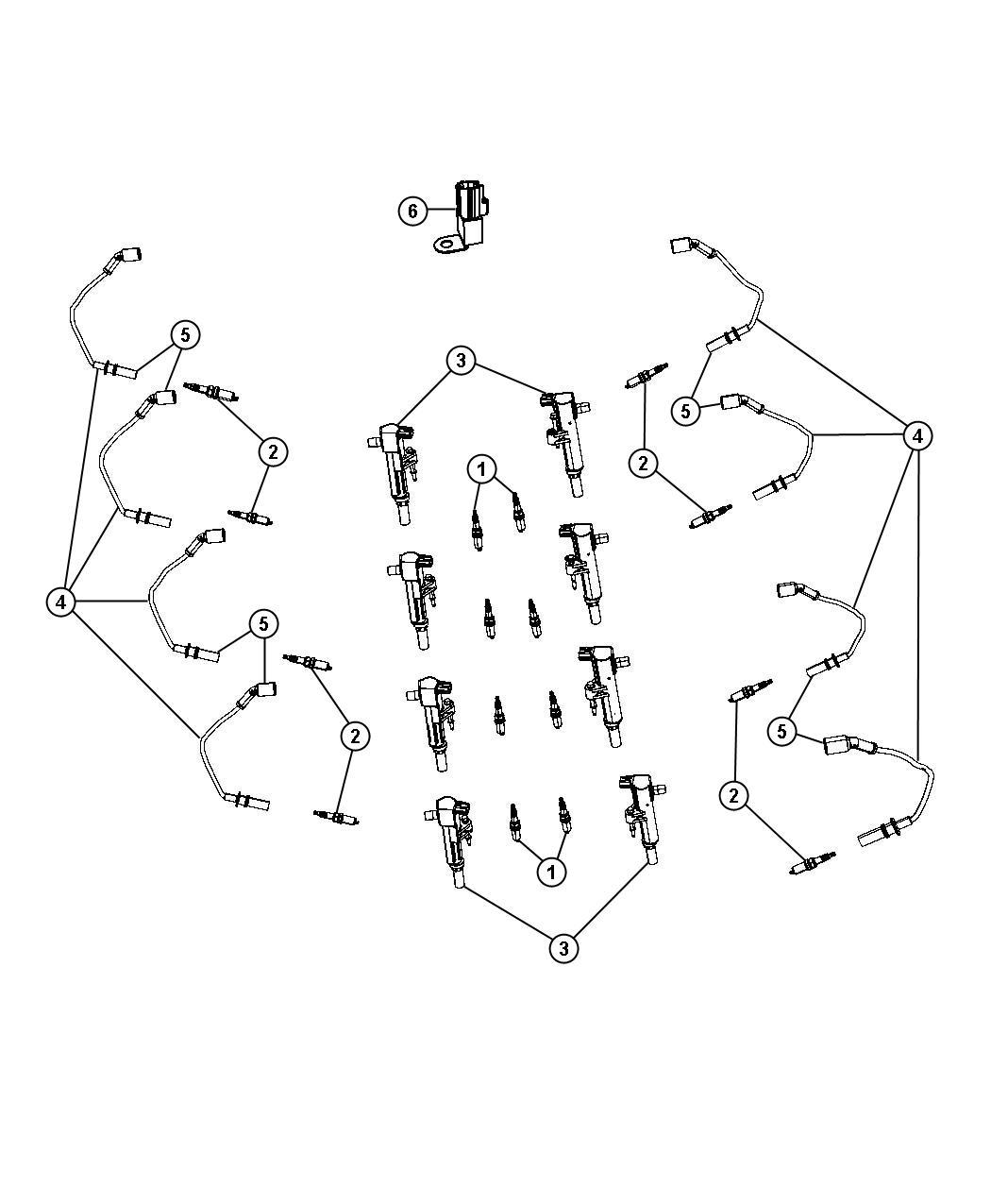 V8 Spark Plug Diagram