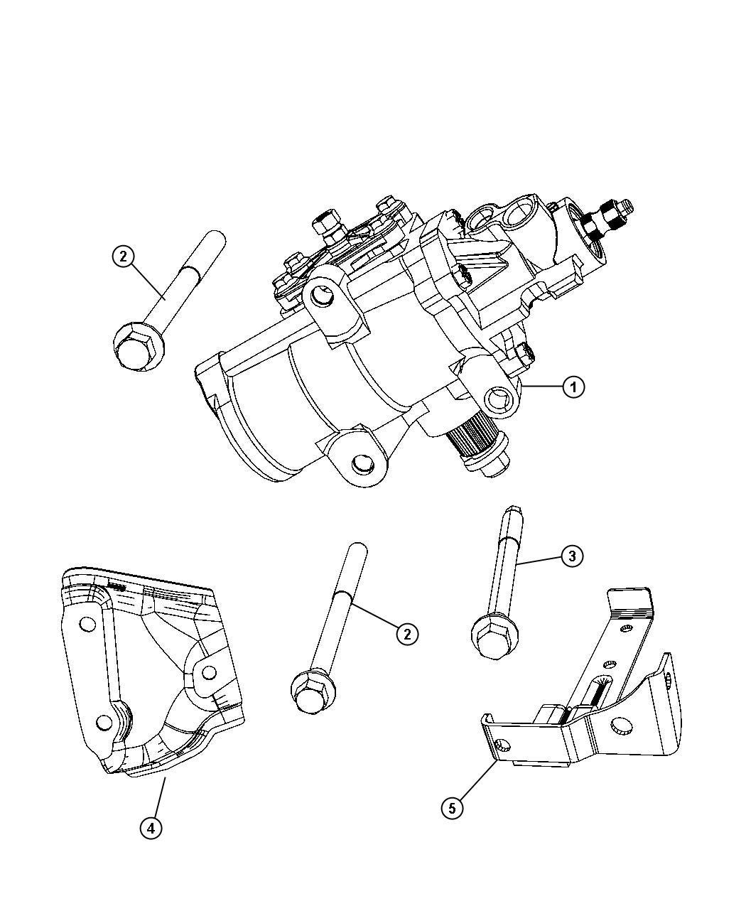 Dodge Ram Gear Steering Gear Power Steering