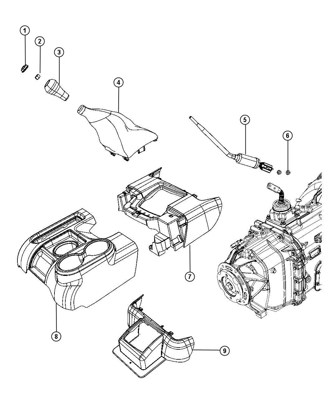 Dodge Dakota Knob Gearshift Body 94 Gear Shift Lever
