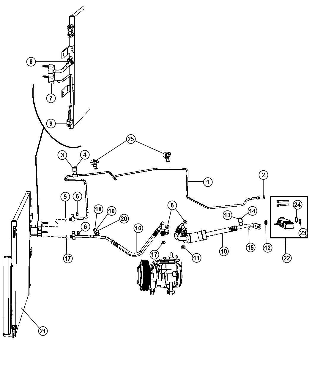 Jeep Cherokee Valve Export A C Pressure Transducer