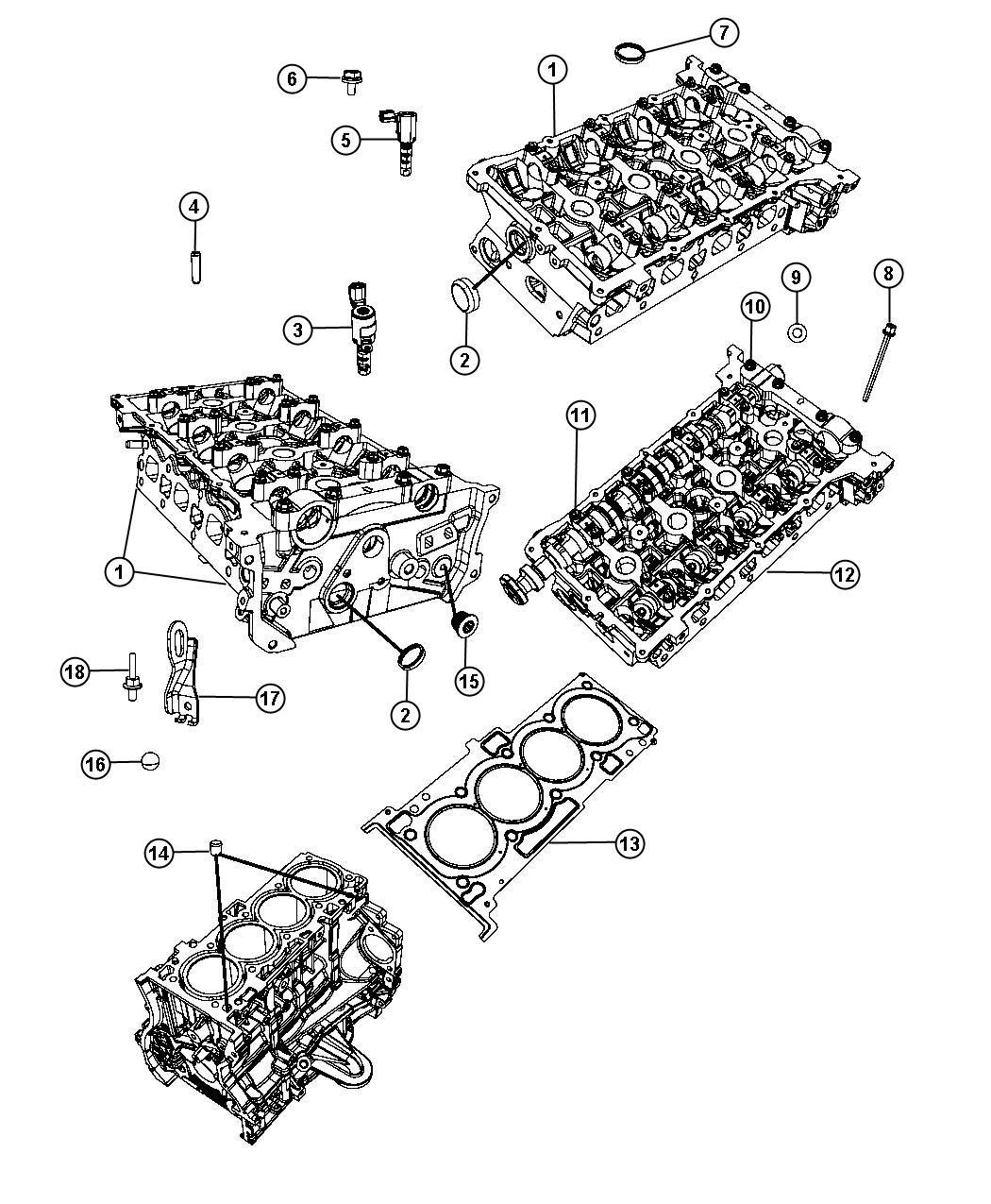 Jeep Renegade Cap Plug Cap Sealing Core Coolant Drain