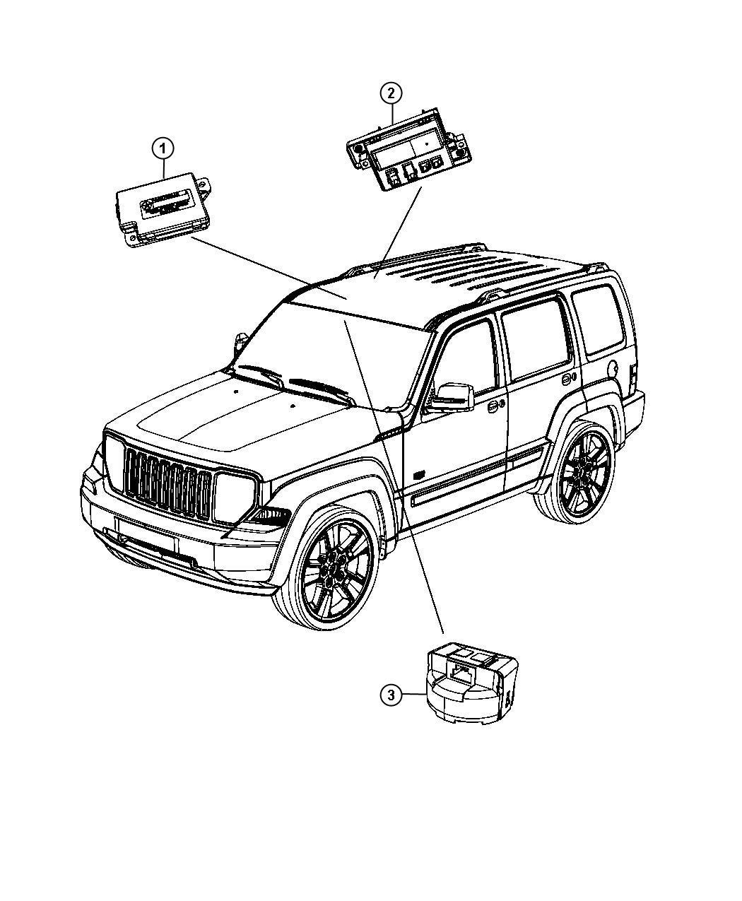 Jeep Liberty Module Full Open Roof Ecu Trim O0
