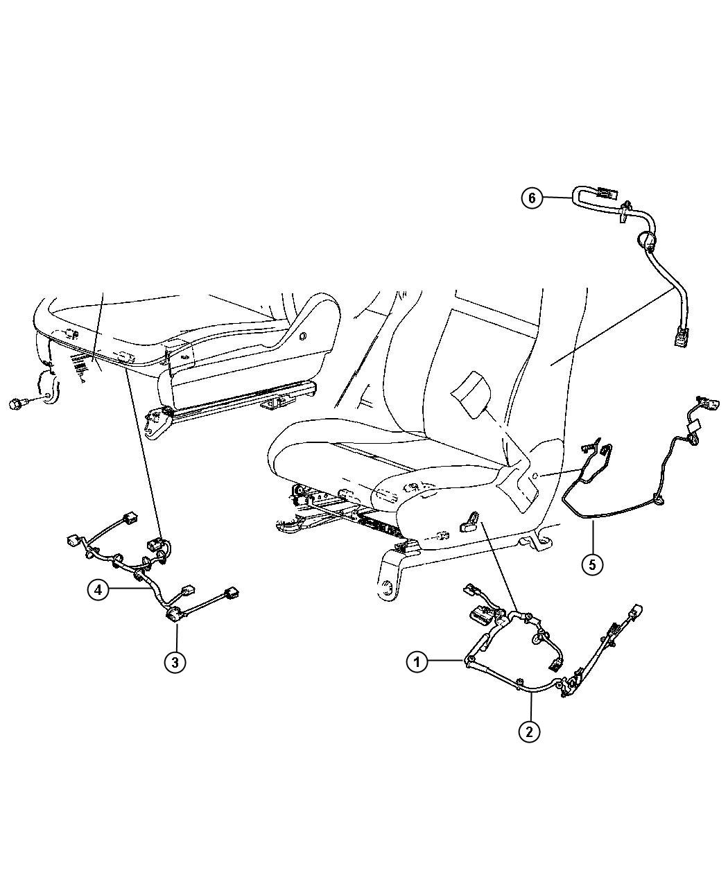 Dodge Grand Caravan Wiring Power Seat Seat Trim Lux