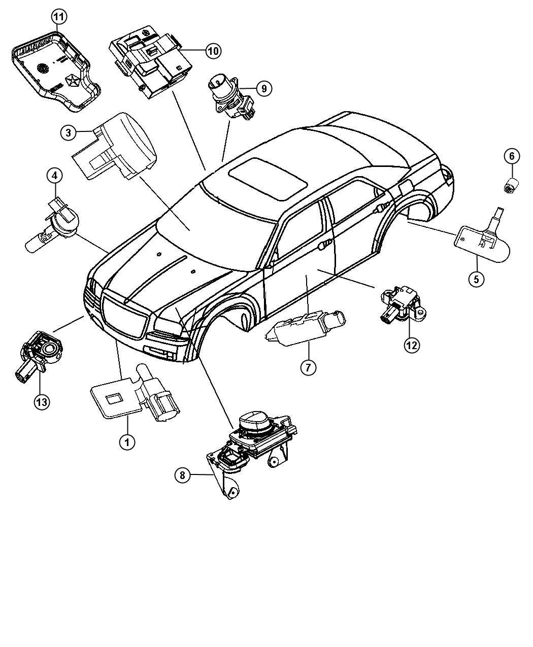 Chrysler 300 Used For Sensor And Bracket Adaptive Speed